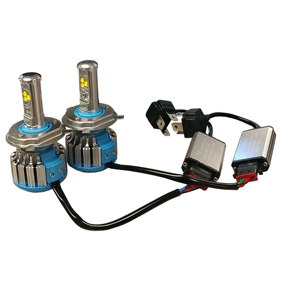 H4 LED Headlight Conversion Bulbs, 6000K, Hi/Low 40W, Pair