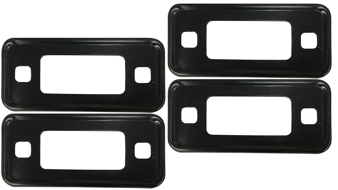 Black Marker Light Bezel Kit - 70-77 Ford Bronco (set of 4)