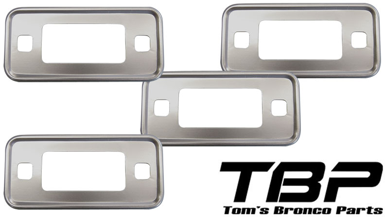 Side Marker Light Bezels - Set of 4, 70-77 Ford Bronco