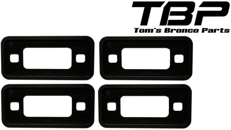 Billet Black Aluminum Side Marker Lens Trim Bezels, 70-77 Ford Bronco