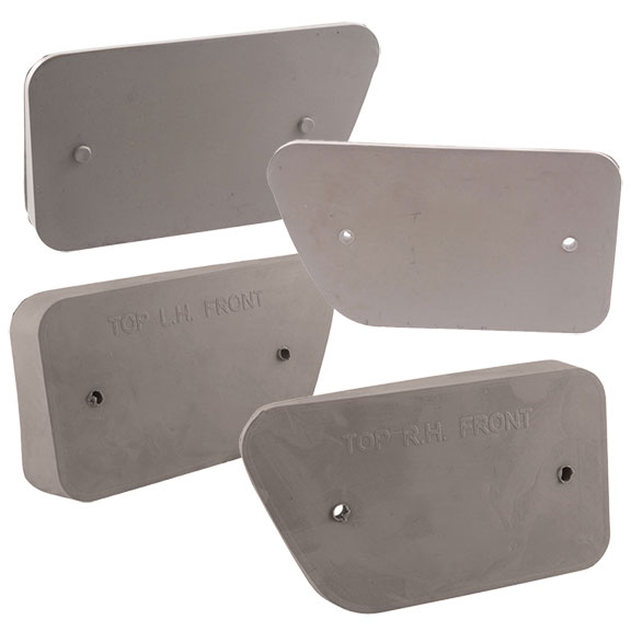 Gray Side Reflector Pad Kit - Full Set, 68-69 Ford Bronco