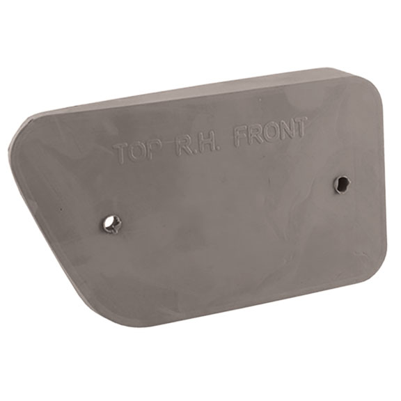 Passenger Front Side Reflector Pad, 68-69 Ford Bronco