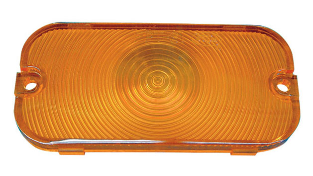 Turn Signal Lens - Amber, 66-68 Ford Bronco (each)