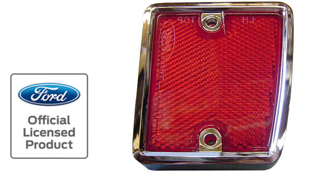 Reflector w/Chrome - Passenger, Rear, 70-77 Ford Bronco (each)