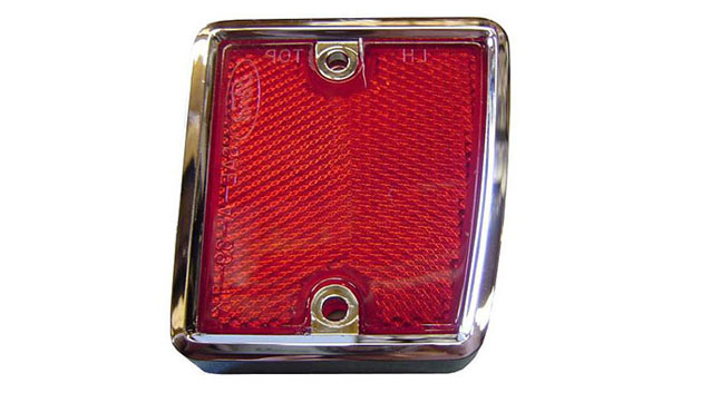 Rear Reflector w/Chrome - Passenger, 70-77 Ford Bronco