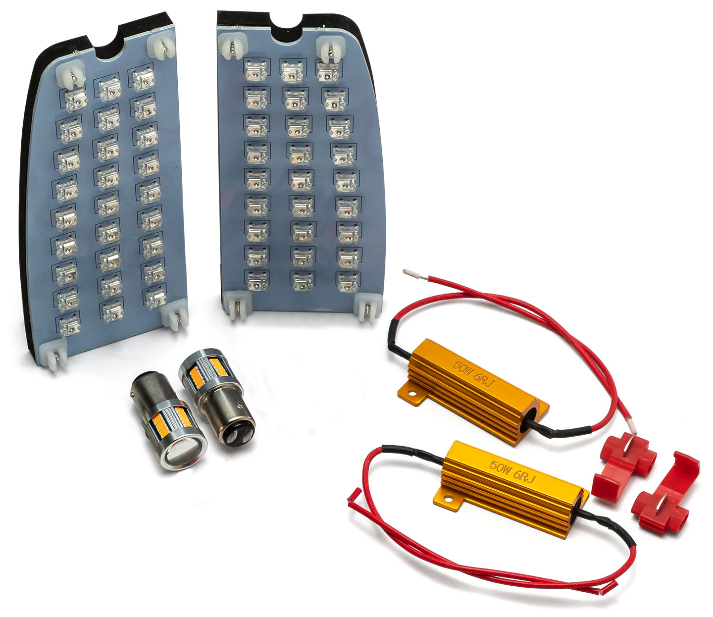 LED Exterior Light Kit w/Board Style Tail Lights, 66-67 Ford Bronco