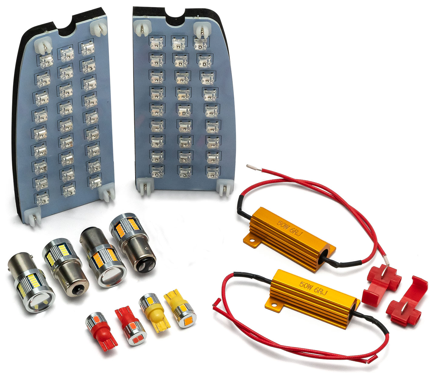 LED Exterior Light Kit w/Board Style Tail Lights, 70-77 Ford Bronco