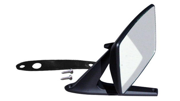 Side Mirror - BLACK SATIN, Driver or Passenger, 68-77 Ford Bronco