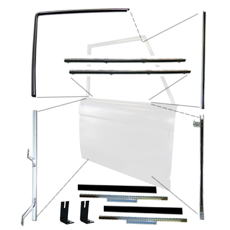18 Piece Door Felt Kit w/Glass Tracks & Adhesive (2 Doors)