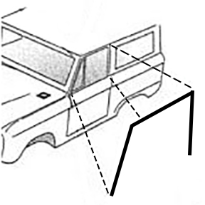 Upper Door Seals - OE QUALITY, (per pair)