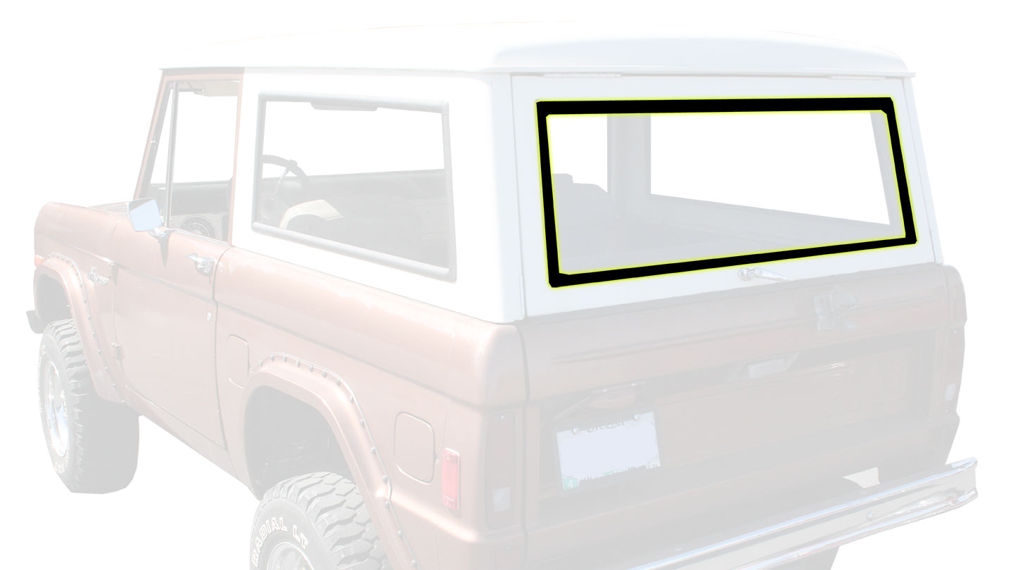 Liftgate Window Seal - Slotted for Chrome, 66-77 Ford Bronco