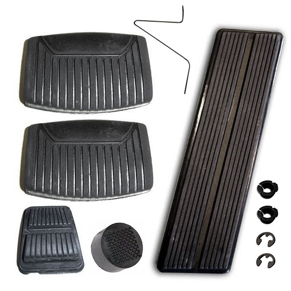 Pedal Pad Kit - OE Style for Manual Trans, New