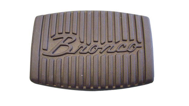 Brake Pedal Pad w/Bronco Script - Medium, Clutch/Brake