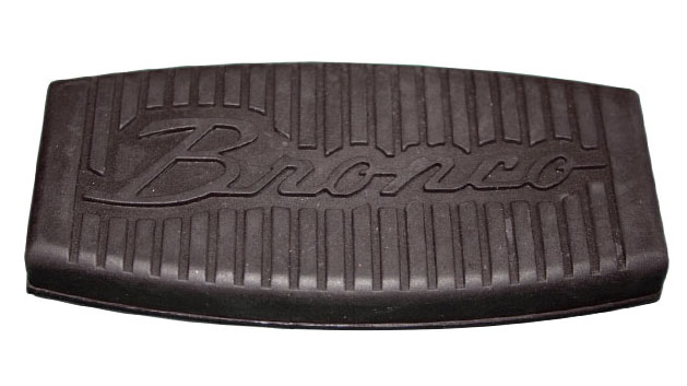 Brake Pedal Pad w/Bronco Script - Large, Disc, 76-79 Ford Bronco