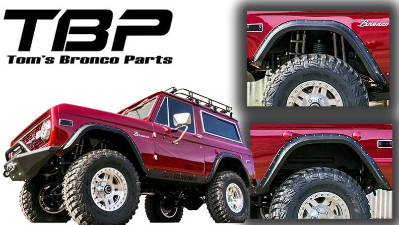 TBP Ultra-Flex Bronco Fender Flares, Full Set, **BLEM**
