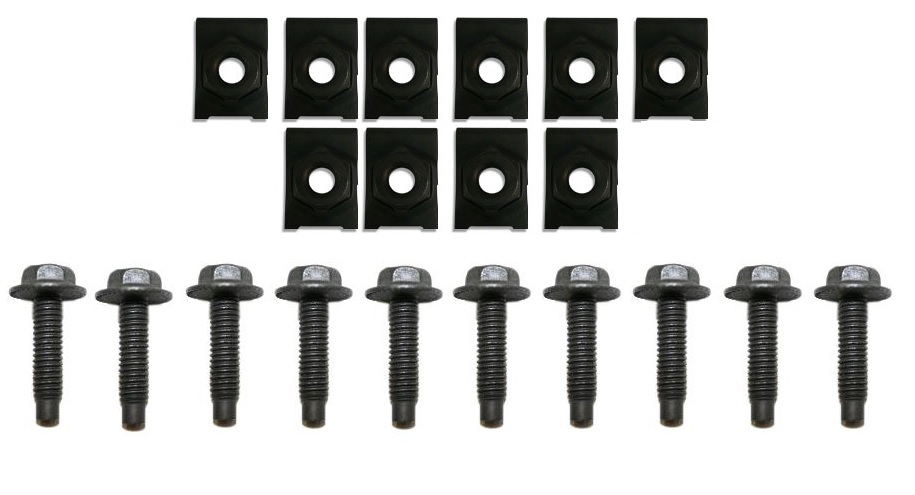 Grill Mounting Bolt and Clip Kit