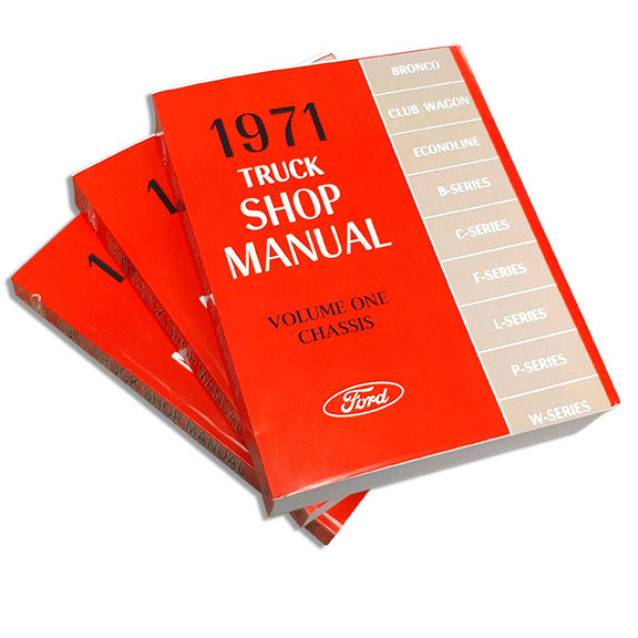 1971 Ford Truck Shop Manual Reprint