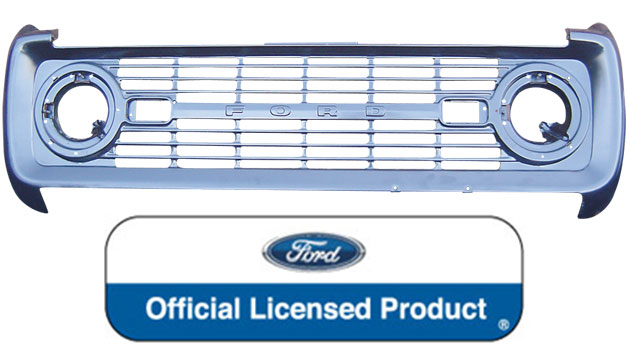 Grill - OE Stamped Steel, 69-77 Ford Bronco *FREE GROUND SHIPPING*