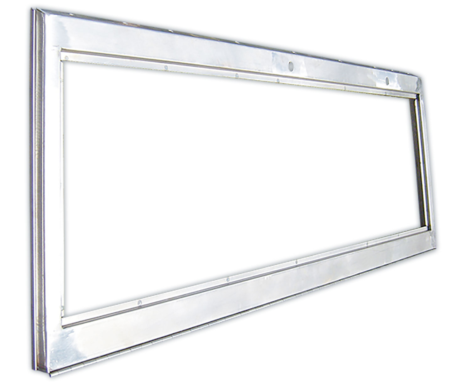 Windshield Frame - Stainless Steel w/Stainless Hinge, 66-77 Ford Bronco