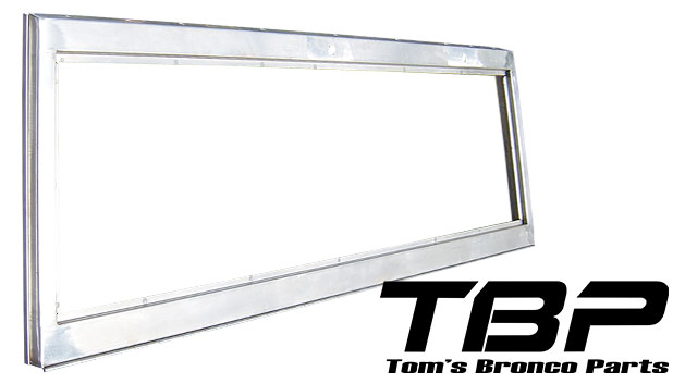 Windshield Frame - Stainless Steel w/Stainless Hinge, 66-77 Ford Bronco, New
