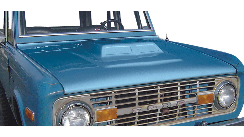 Classic Scoop Fiberglass Hood w/Hood Pins