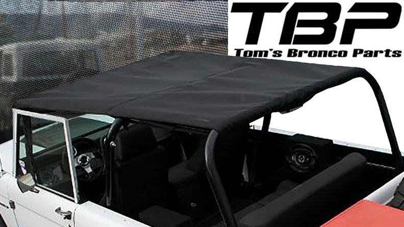 """BREEZER"" Rollbar Top Kit for Family Bar - Black w/Hardware"