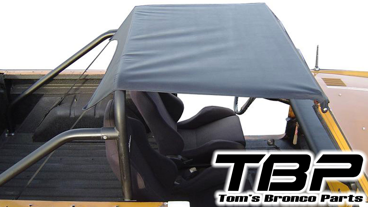 Rollbar Top Skin - Black, TBP Style Replacement, Skin Only