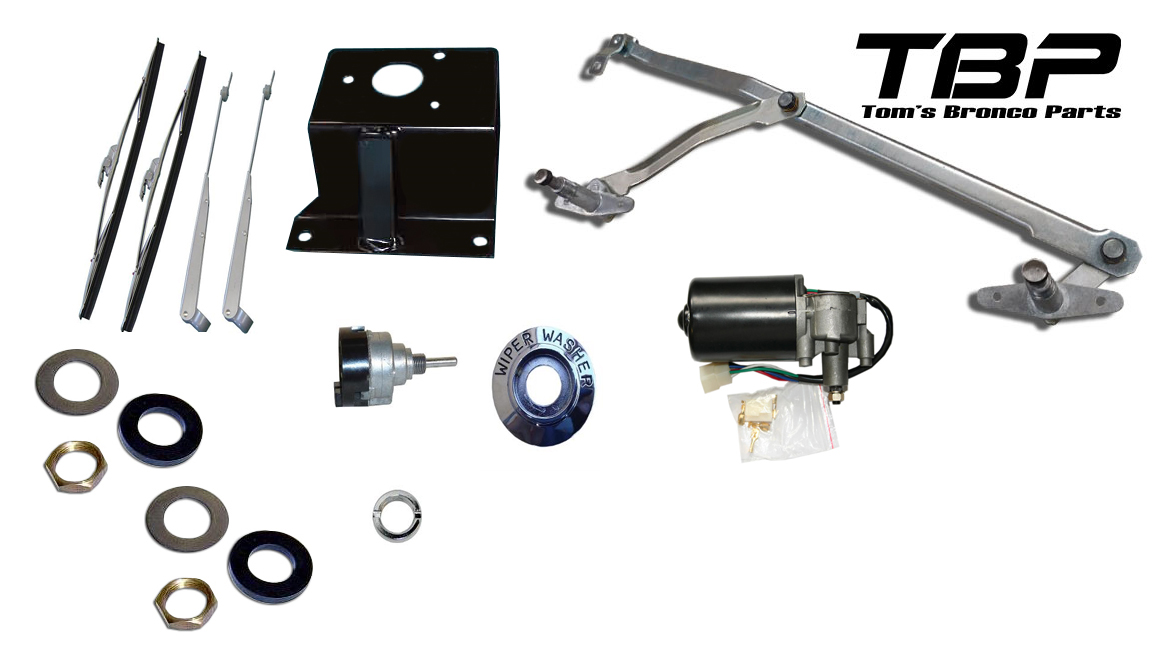 Complete Windshield Wiper Linkage Kit - Deluxe w/ Lowering Bracket