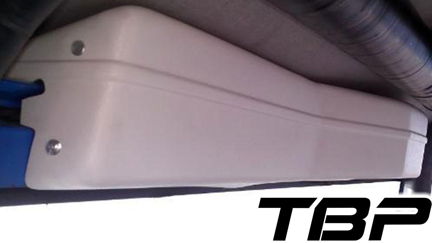 Wiper Cover for TBP Soft Top - White w/Mounting Brackets