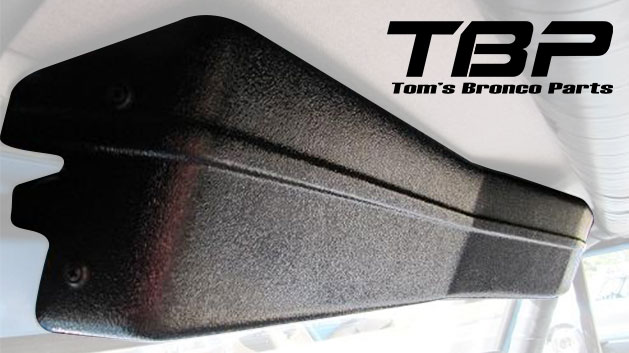 Wiper Cover for BESTOP Soft Top - Black w/Mounting Brackets