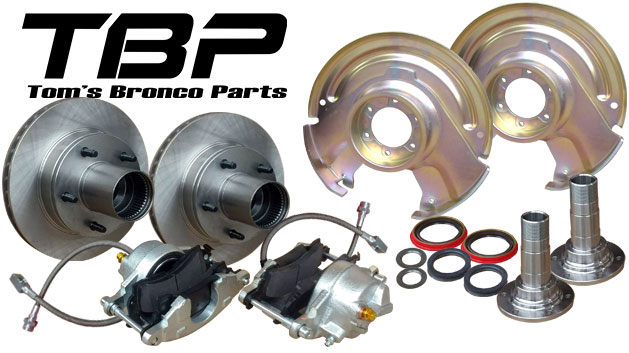 Front Disc Brake Conversion Kit - Dana 30 & 44, 66-75 Ford Bronco