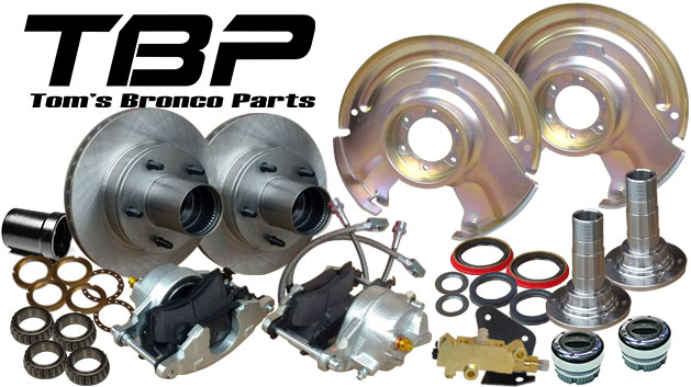 Disc Brake Major Kit - Dana 30 & 44, Prop Valve & Bracket, Mile Marker Hubs, Wheel Bearings