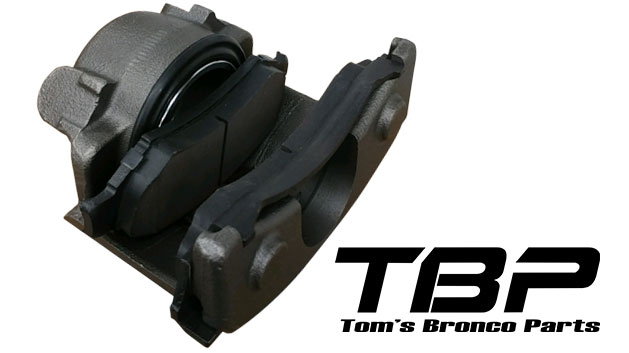 Loaded Front Disc Brake Caliper - Driver, 76-77 Ford Bronco