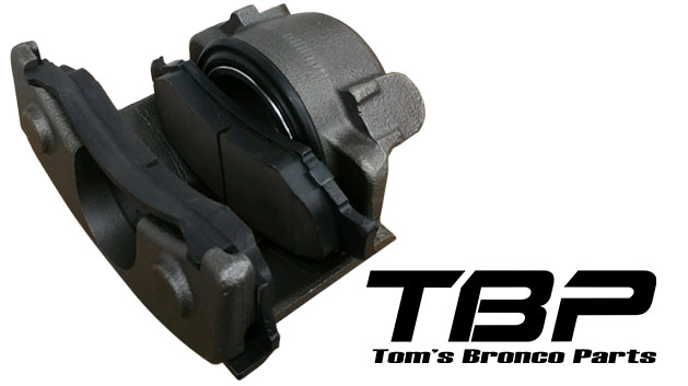 Loaded Front Disc Brake Caliper - Passenger, 76-77 Ford Bronco
