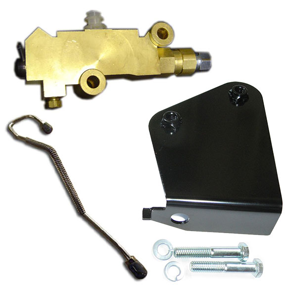 Disc Brake Proportioning Valve Kit w/Bracket and Brake Line