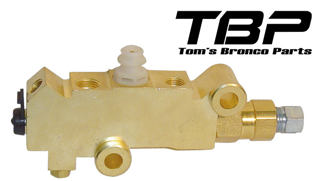 Disc Brake Proportioning Valve for Front Disc/Rear Drum