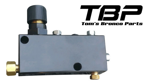 Black Adjustable Disc Brake Proportioning Valve