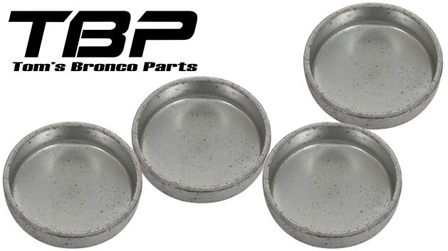 Dana 30 Knuckle Kingpin Dampner Cup Kit, 1966 Ford Bronco, Set of 4
