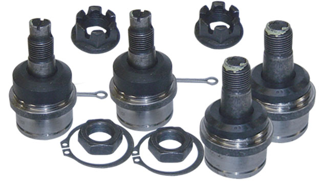 Upper & Lower Ball Joints (Both Sides), No Eccentrics, Dana 44