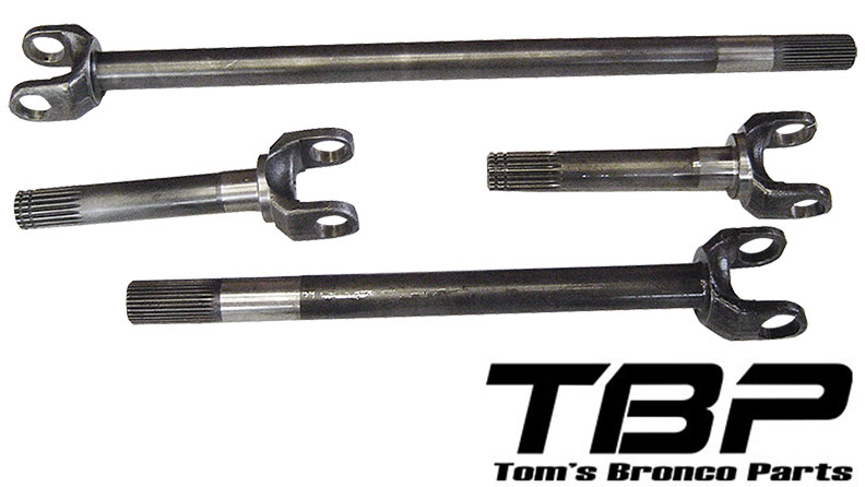 Chromoly Front Axle Kit - Dana 44, Complete w/o U-Joints, 72-77 Ford Bronco