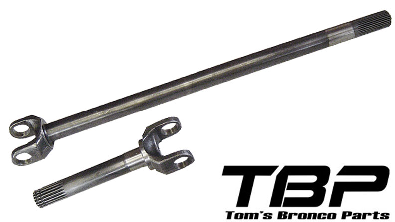 Chromoly Front Axle - Passenger, Dana 44, 72-77 Ford Bronco, Unassembled