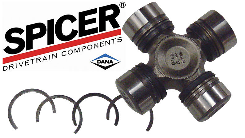 """Chromoly Axle U-Joint - Heavy Duty, 1 3/16"""", Non-Greasable, SPICER BRAND, 66-77 Ford Bronco, New"""