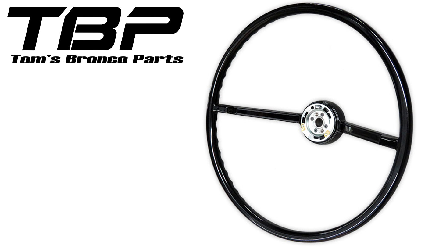 Steering Wheel - Factory Style, 66-73 Ford Bronco, New