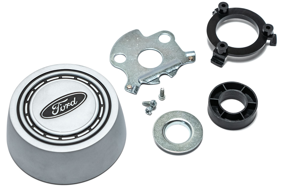 Horn Button Kit, Argent Button, 66-73 Ford Bronco