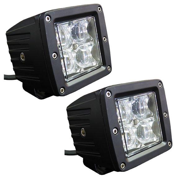 "TBP LED Off-Road Light Pod Kit - 2 x 3"" Pods w/Harness, SPOT"
