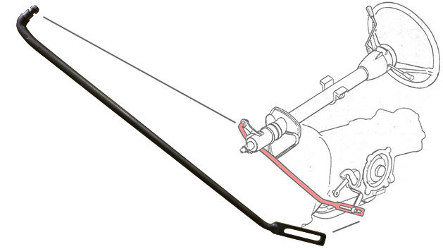 C4 Automatic Transmission Shift Rod, 73-77 Ford Bronco