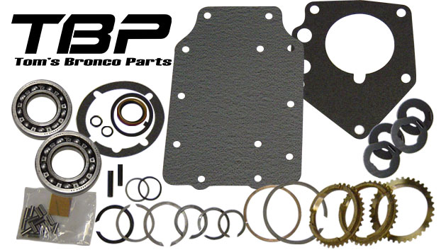 Rebuild Kit - Manual 3 Speed, Includes Syncros, 66-77 Ford Bronco, New