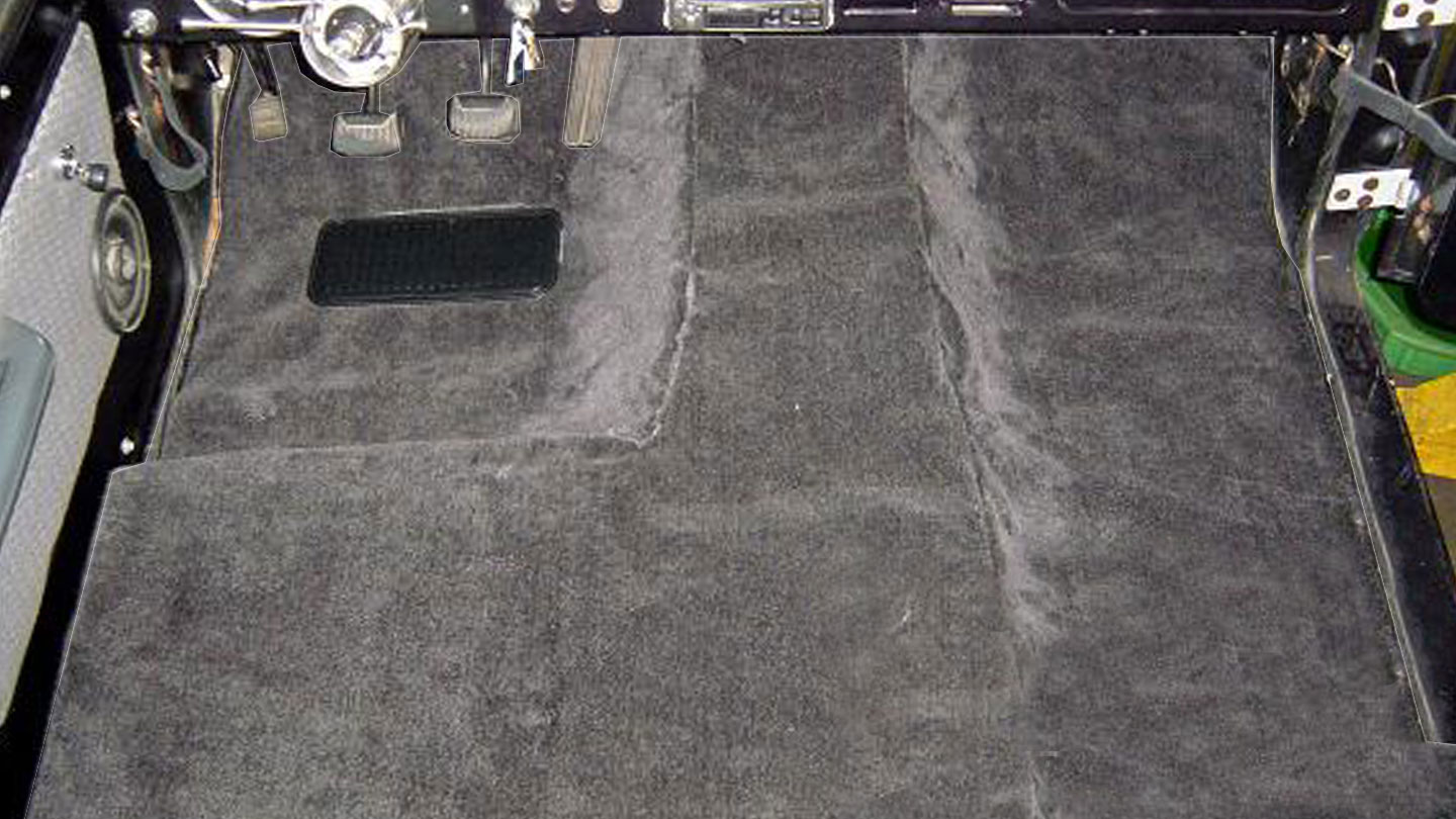 STANDARD Black Half Cab Carpet Kit