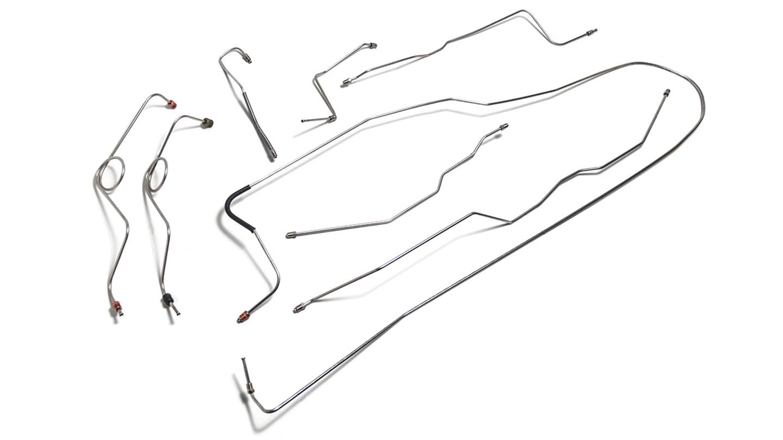 Brake Line Kit Dana 30 Stainless Steel, Front Power Disc Brake Conversion