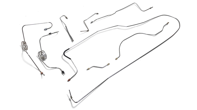 Brake Line Set - Dana 30, TBP 4 Wheel Power Disc, Stainless Steel,